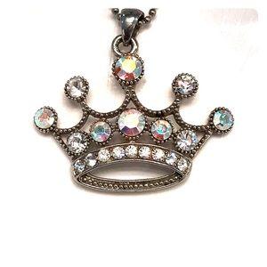 Princess or queen crown necklace